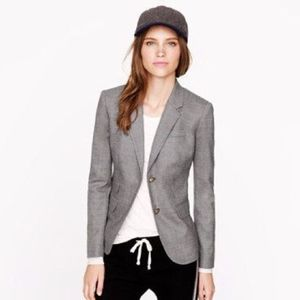 J. Crew Schoolboy Blazer in Wool Flannel Gray
